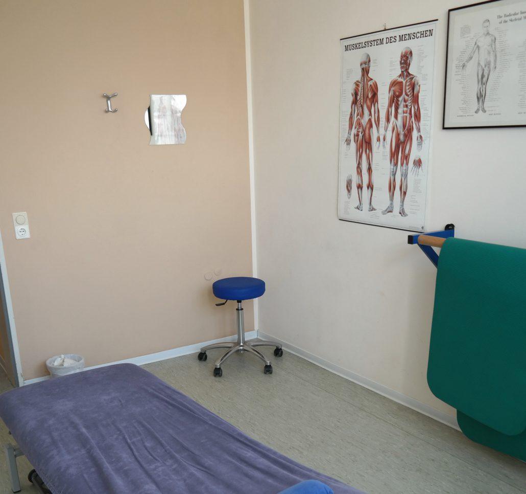 Raum für Krankengymnastik und Physiotherapie