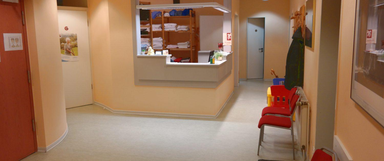 Eingangsbereich Physiotherapie